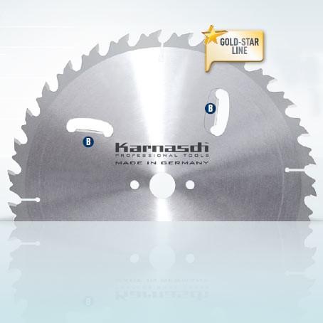 Hartmetall-bestücktes Kreissägeblatt, Zuschnitt/Vielblatt mit Räumerschneiden + Abweiser 450x4,2/2