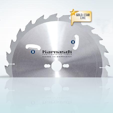 Hartmetall-bestücktes Kreissägeblatt, Zuschnitt/Vielblatt mit Räumerschneiden 300x3,4/2,2x30mm 24 W