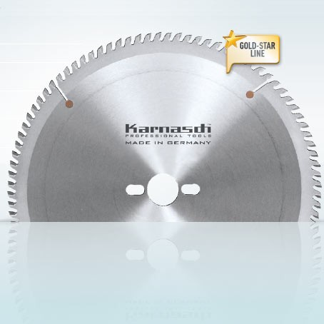 Hartmetall-bestücktes Kreissägeblatt, Acrylglas (Plexiglas) Klarsichtschnitt 350x3,5/2,5x30mm 72 TT