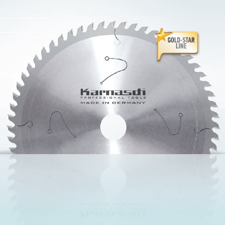 Hartmetall-bestücktes Kreissägeblatt Kunststoffe - Profile - Furniere / Dünnschnitt 225x2,0/1,4x30m