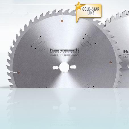 Hartmetall-bestücktes Kreissägeblatt, Formatieren - Massivholz 300x3,2/2,2x30mm 60 WZ - NL: UNI BES