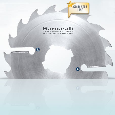 Hartmetall-bestücktes Kreissägeblatt, Vielblatt mit Räumerschneiden 400x4,0/2,8x70mm 24 FZ+R - 2xA