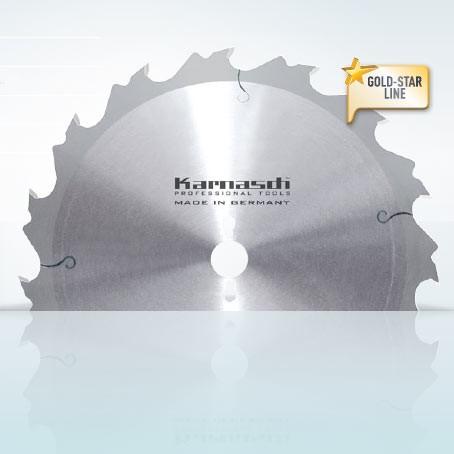 Hartmetall-bestücktes Kreissägeblatt, Zuschnitt Sägeblatt - Flachzahn mit Abweiser 400x3,5/2,5x30mm