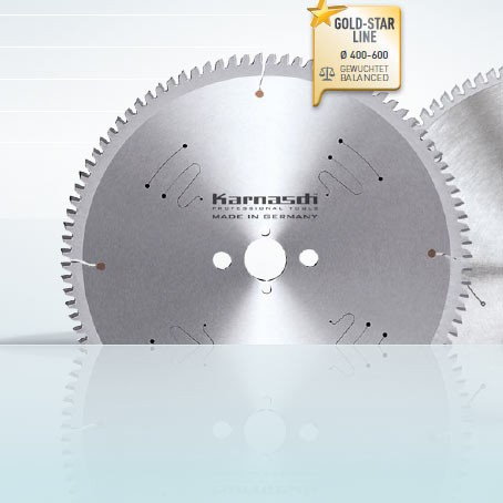 Hartmetall-bestücktes Kreissägeblatt, Aluminium, Kunststoffe, Fensterprofile - NEGATIV - 400x3,8/3,
