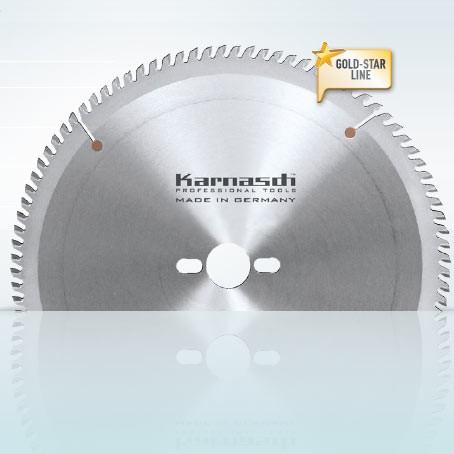 Hartmetall-bestücktes Kreissägeblatt, Kunststoff/Aluminium 7-Zahn Geometrie 400x3,6/3,0x30mm 98 NEG