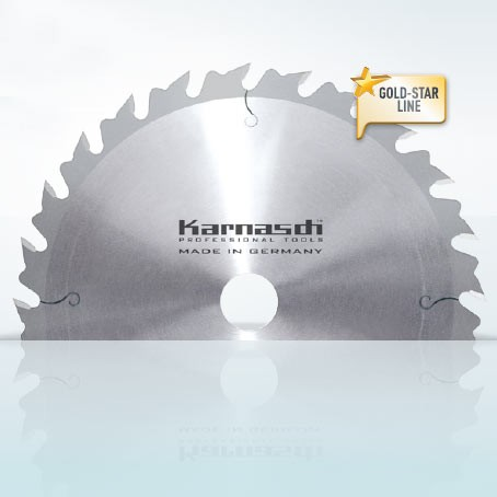 Hartmetall-bestücktes Kreissägeblatt, Zuschnitt Kreissägeblatt - Wechselzahn mit Abweiser 550x4,4/