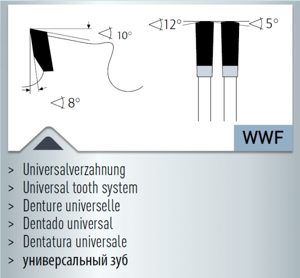 Hartmetall-bestücktes Kreissägeblatt, Dry-Cutter Baustähle 280x2,2/1,8x30mm 60 WWF - NL: UNI1+UNI
