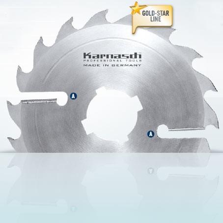 Hartmetall-bestücktes Kreissägeblatt, Vielblatt mit Räumerschneiden 250x3,6/2,5x70mm 16 FZ+R - 2xA