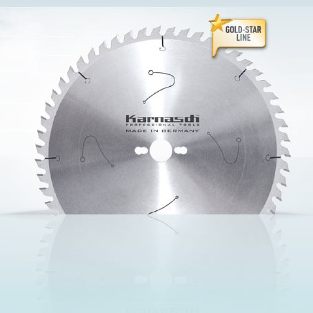 Hartmetall-bestücktes Kreissägeblatt Formatieren - Wechselzahn extrem 35° 220x3,2/2,2x30mm 68 WZE-N