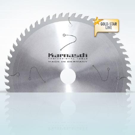 Hartmetall-bestücktes Kreissägeblatt Kunststoffe - Profile - Furniere / Dünnschnitt 120x1,8/1,2x20m
