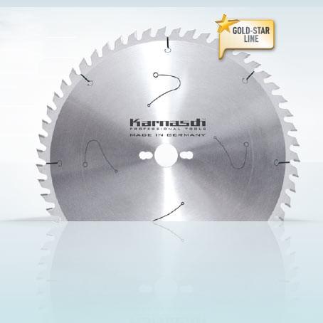 Hartmetall-bestücktes Kreissägeblatt Formatieren - Wechselzahn extrem 35° 250x3,2/2,2x30mm 80 WZE-N