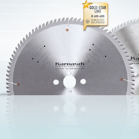 Hartmetall-bestücktes Kreissägeblatt, Aluminium, Kunststoffe, Fensterprofile - POSITIV - 500x4,2/3,