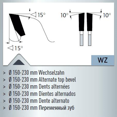 Hartmetall-bestücktes Kreissägeblatt, Aluminium, Kunststoffe, Fensterprofile - NEGATIV - 600x4,6/4,