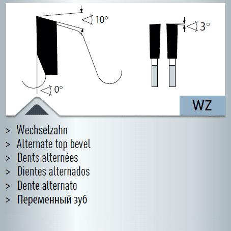 Hartmetall-bestücktes Kreissägeblatt, Winkelschleifer + Brutal Einweg-Sägeblatt 260x2,4/1,8x30mm 28
