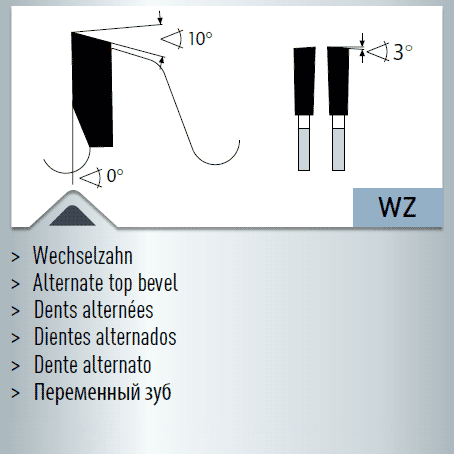 Hartmetall-bestücktes Kreissägeblatt, Winkelschleifer + Brutal Einweg-Sägeblatt 300x2,4/1,8x30mm 60