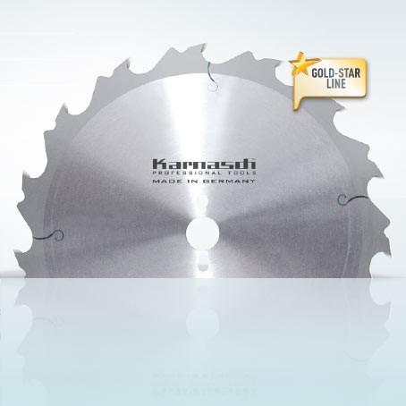 Hartmetall-bestücktes Kreissägeblatt, Zuschnitt Sägeblatt - Flachzahn mit Abweiser 300x3,2/2,2x30mm